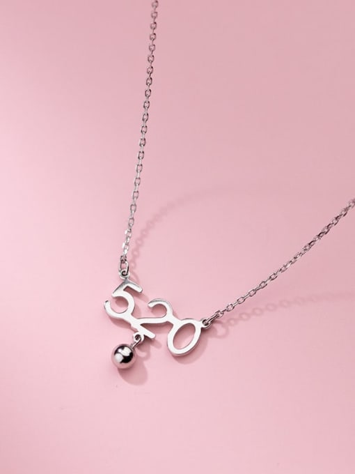Rosh 925 Sterling Silver Number Minimalist Necklace 4