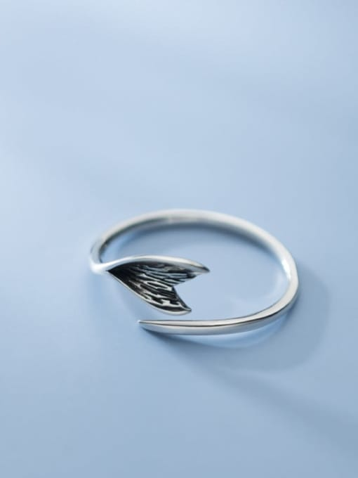 Rosh 925 Sterling Silver Fish tail Vintage Band Ring 1