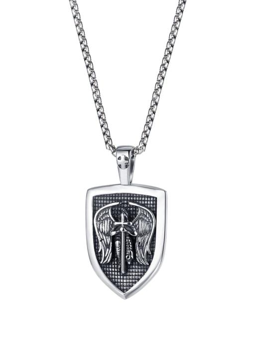 2009 【 pendant  chain 3*55cm 】 Titanium Steel Cross Hip Hop Necklace