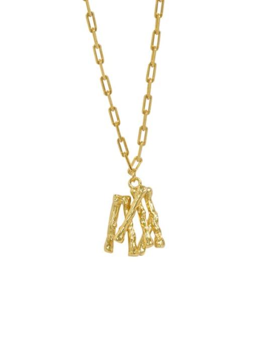 golden 925 Sterling Silver Letter Minimalist Necklace