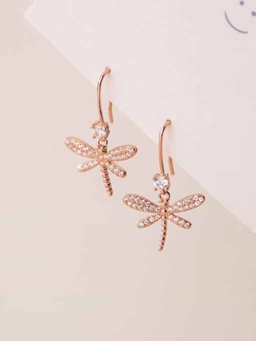 Rosh 925 Sterling Silver Butterfly Dainty Hook Earring