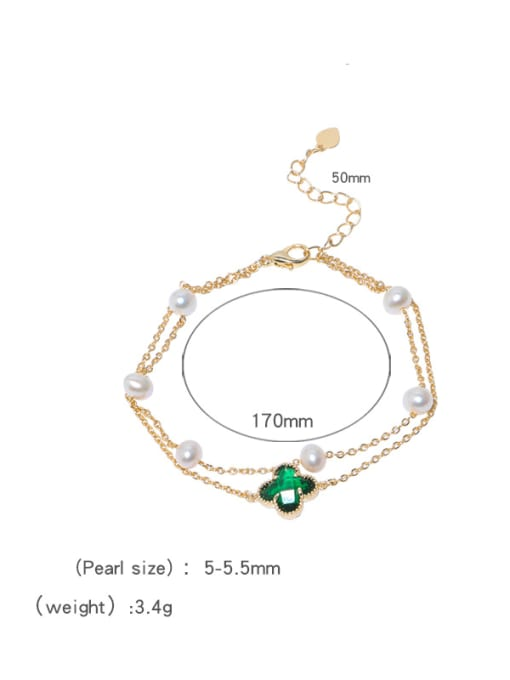 RAIN Brass Freshwater Pearl Flower Vintage Strand Bracelet 3