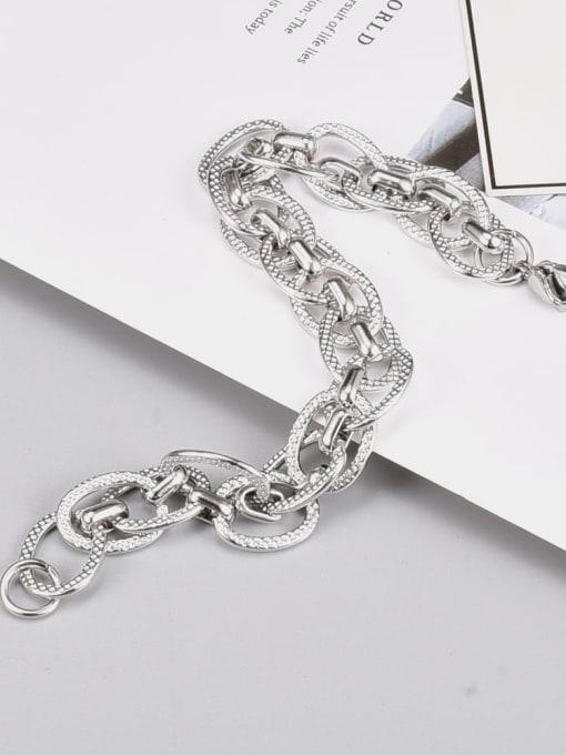 A TEEM Titanium Steel Irregular Vintage Link Bracelet 3