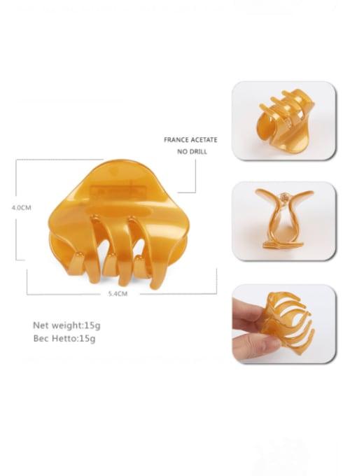 HUIYI Cellulose Acetate Minimalist Irregular Zinc Alloy Jaw Hair Claw 4