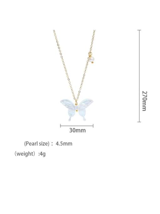 RAIN Brass Shell  Minimalist ButterflyEarring and Necklace Set 3