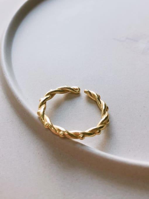 J 1065 925 Sterling Silver Cubic Zirconia Geometric Minimalist Band Ring