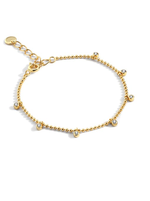 CHARME Brass Bead Geometric Minimalist Beaded Bracelet 0