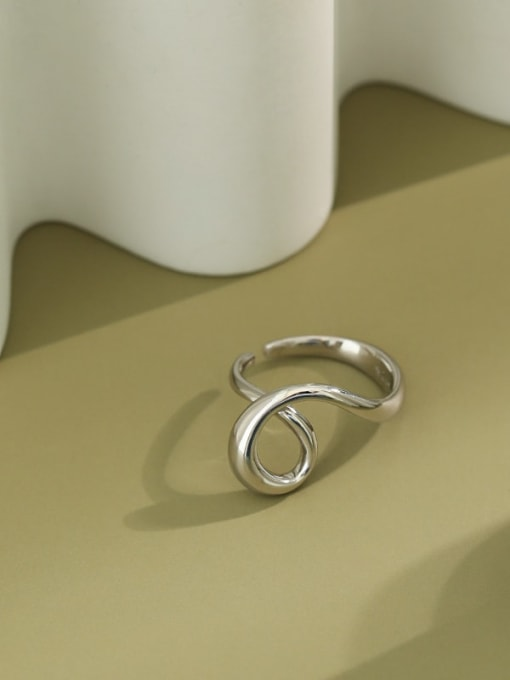 Dak Phoenix 925 Sterling Silver  Vintage Irregular single Heart-shaped  Band Ring 1