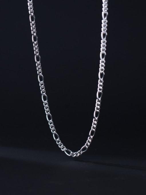Rosh 925 Sterling Silver Irregular Minimalist Necklace 1