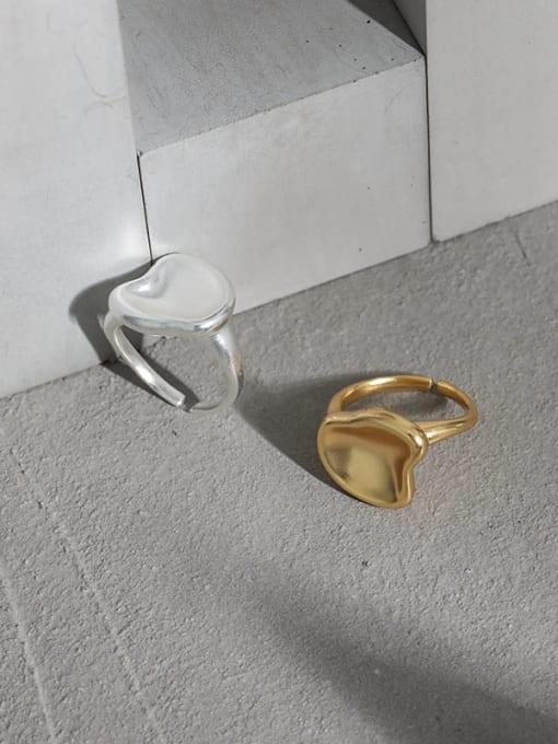 DAKA 925 Sterling Silver Smooth Geometric Minimalist Band Ring 1