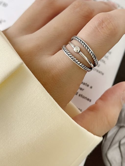 Mahua ring j218 3.1g 925 Sterling Silver Cross Minimalist Band Ring