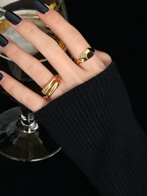 DAKA 925 Sterling Silver Irregular Minimalist Stackable Ring 2