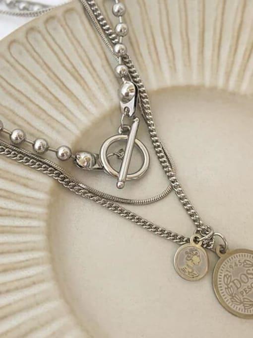 A TEEM Titanium Heart Vintage Multi Strand Necklace 3