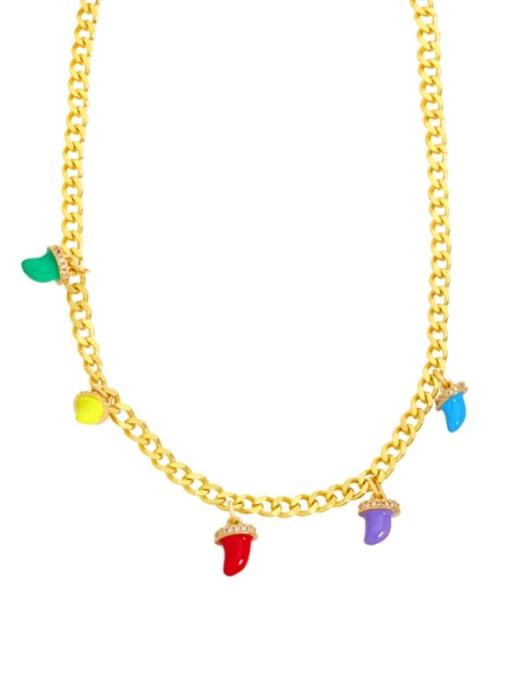 MMBEADS Brass Enamel Geometric Hip Hop Necklace 1