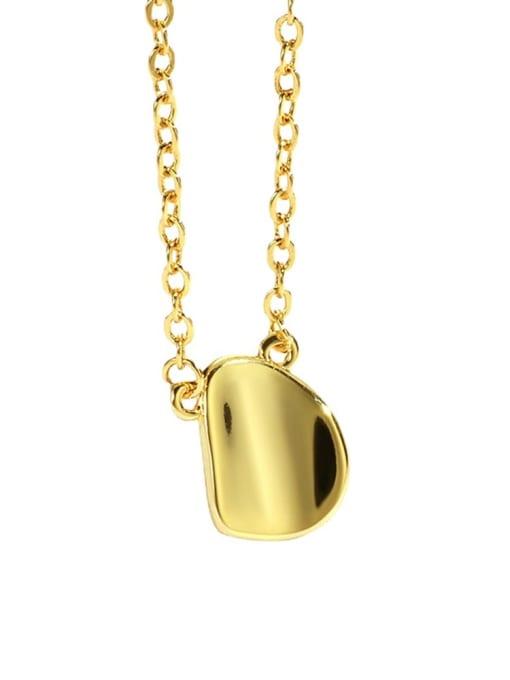 CHARME Brass Smooth Irregular Minimalist Necklace 2