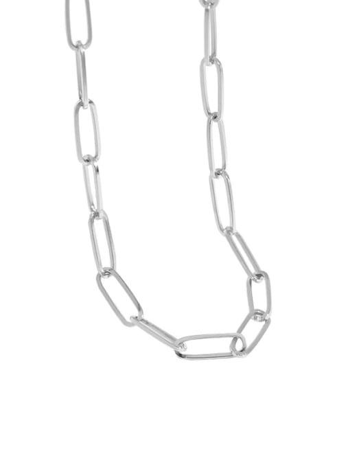 DAKA 925 Sterling Silver Hollow Geometric Chain Vintage Necklace 4