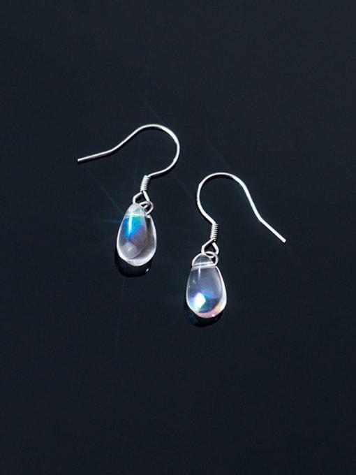 Rosh 925 Sterling Silver Water Drop Minimalist Hook Earring 0