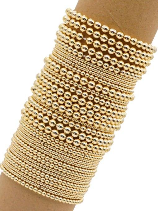 Roxi Stainless steel Bead Round Minimalist Beaded Bracelet 1