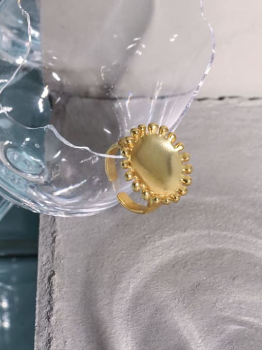 DAKA 925 Sterling Silver Round Vintage Band Ring 4