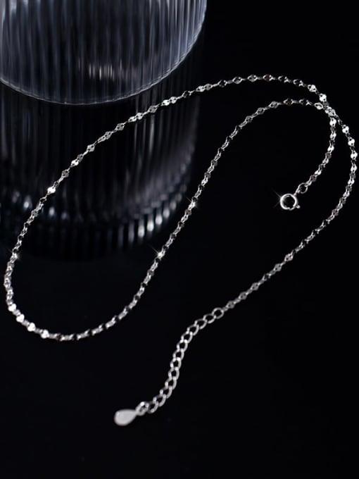 Rosh 925 Sterling Silver Round Minimalist Twisted Serpentine Chain