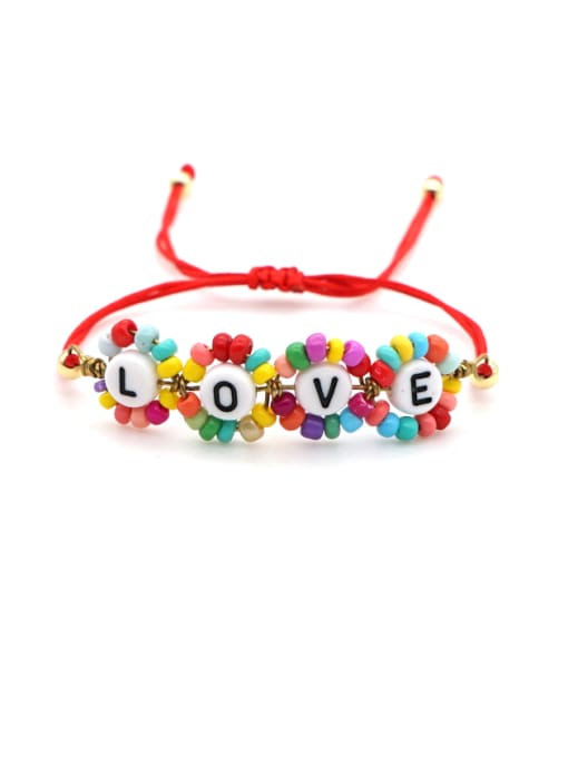 Roxi Stainless steel Miyuki beads Flower Bohemia Adjustable Bracelet