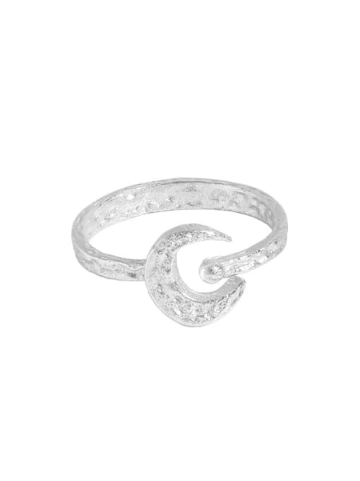 DAKA 925 Sterling Silver Geometric Vintage Band Ring 3