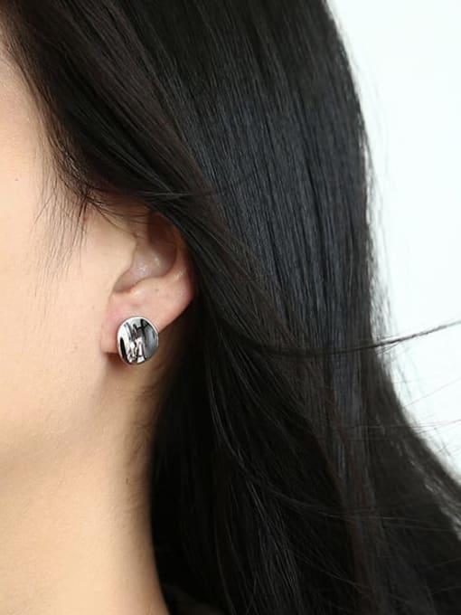 CHARME Brass Geometric Vintage Stud Earring 3