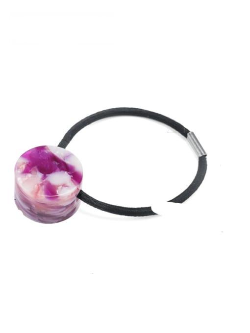 Broken flower purple Cellulose Acetate Minimalist Geometric Hair Rope