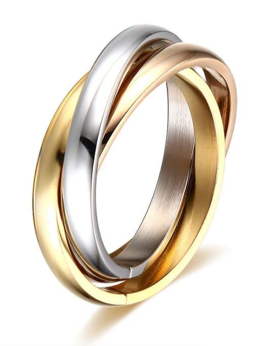 Style 1 5 -10# Titanium Steel Geometric Minimalist Stackable Ring