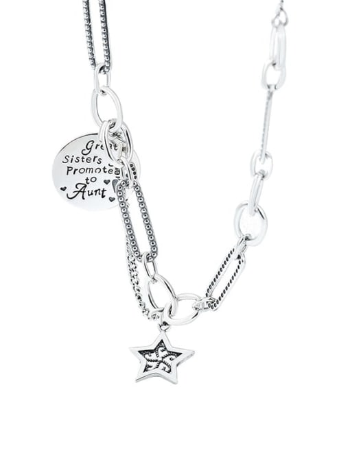 XBOX 925 Sterling Silver Hollow Star Vintage Necklace 3