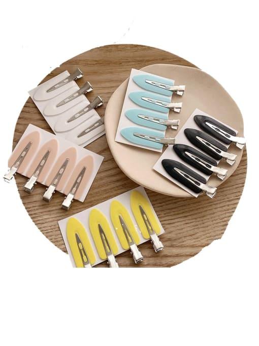 Chimera Alloy Enamel Minimalist Irregular  Multi Color Hair Barrette 1