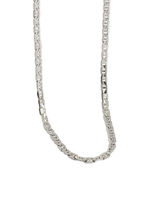 Dak Phoenix 925 Sterling Silver Flat Pig nose chain Vintage Necklace 3