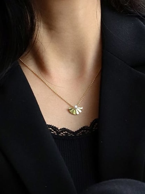 CHARME Brass Imitation Pearl Irregular Vintage Necklace 2