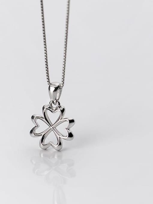 Rosh 925 Sterling Silver Flower  Minimalist Pendant