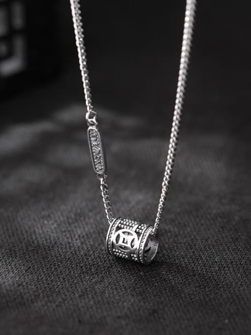 Rosh 925 Sterling Silver Geometric Vintage Pendant Necklace 1