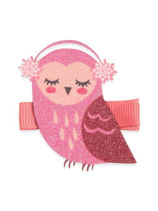 5 Owl Alloy Fabric Cute Icon Multi Color Hair Barrette