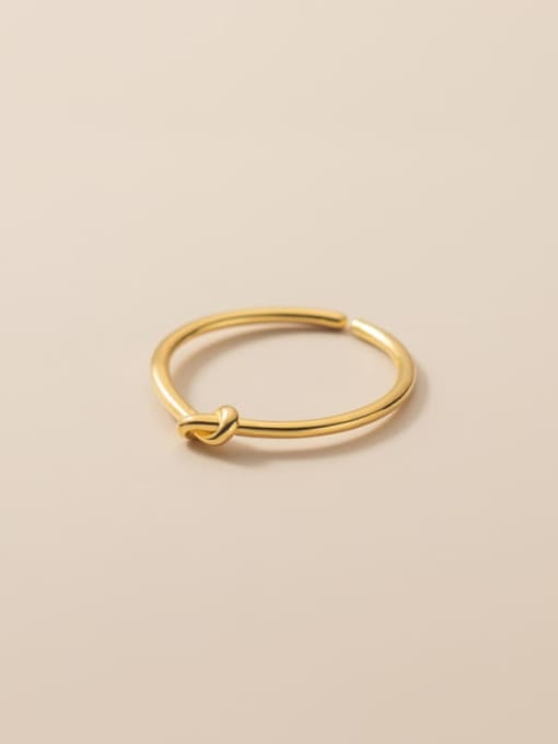 Rosh 925 Sterling Silver Bowknot Minimalist Band Ring