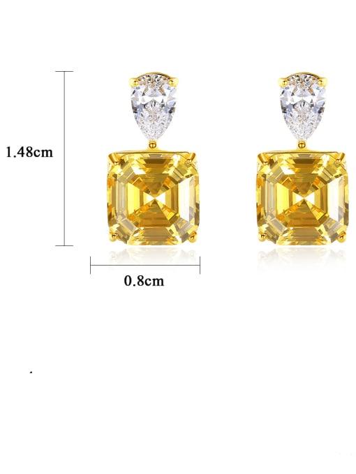 CCUI 925 Sterling Silver Cubic Zirconia Geometric Vintage Drop Earring 3