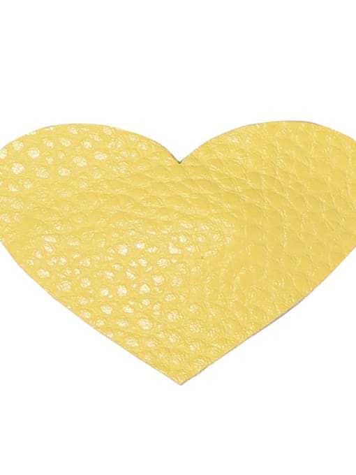 4 cream yellow peach heart Alloy Leather Cute Geometric  Multi Color Hair Barrette