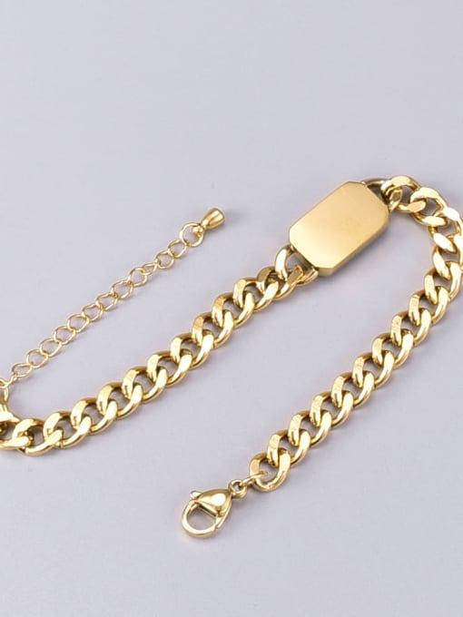A TEEM Titanium Steel Glass Stone Geometric Vintage Bracelet 2