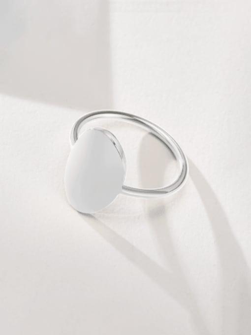 CONG Titanium Steel Smooth Geometric Minimalist Band Ring 1