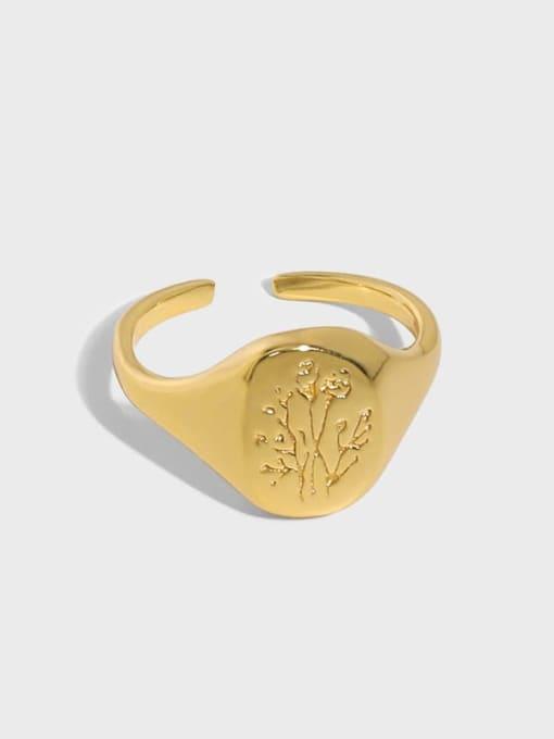 DAKA 925 Sterling Silver Geometric Minimalist Ring 0