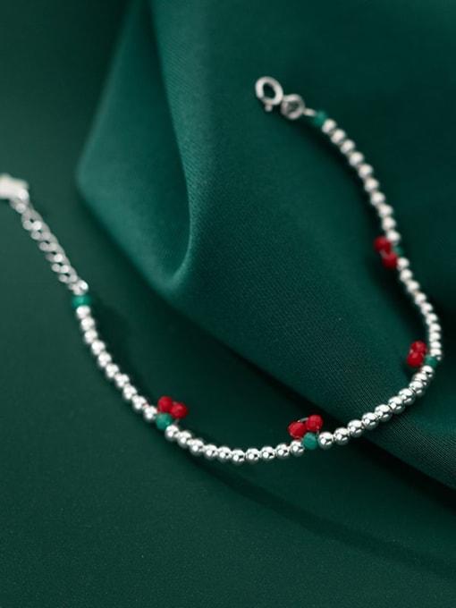 Rosh 925 Sterling Silver Bead Friut Vintage Beaded Bracelet 3
