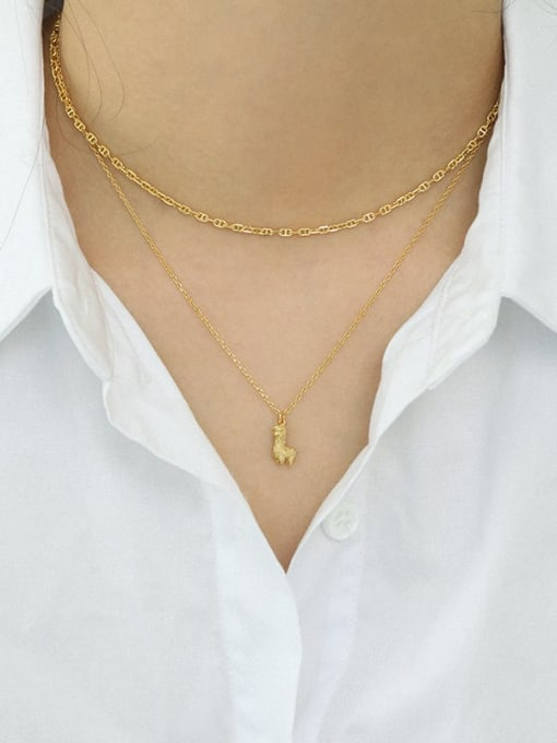 Dak Phoenix 925 Sterling Silver Simple mini alpaca Vintage Necklace 2
