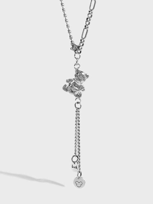 DAKA 925 Sterling Silver Tassel Vintage Tassel Necklace