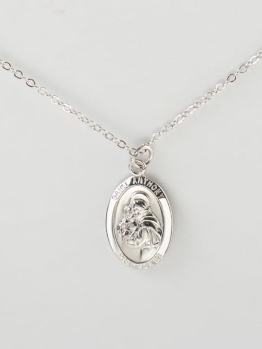 Type a platinum 925 Sterling Silver Geometric Vintage Pendant Necklace