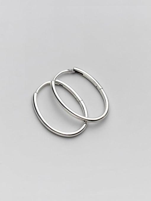 Rosh 925 Sterling Silver Line Geometric Minimalist Hoop Earring 2