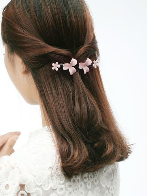 HUIYI Cellulose Acetate Minimalist Flower Zinc Alloy Spring Hair Barrette 1