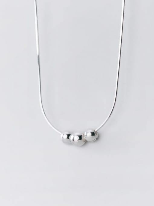 Rosh 925 Sterling Silver Face Minimalist Necklace 3