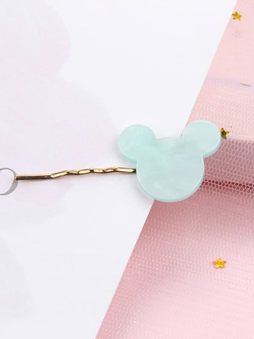 Cartoon blue Alloy Cellulose Acetate Minimalist Heart Hair Pin